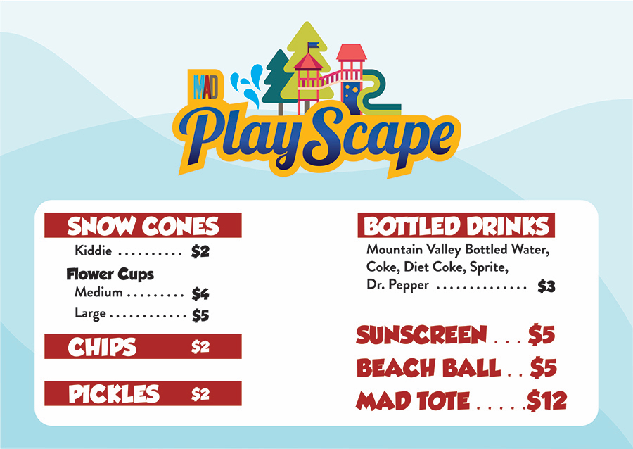 MAD Playscape Concesssions