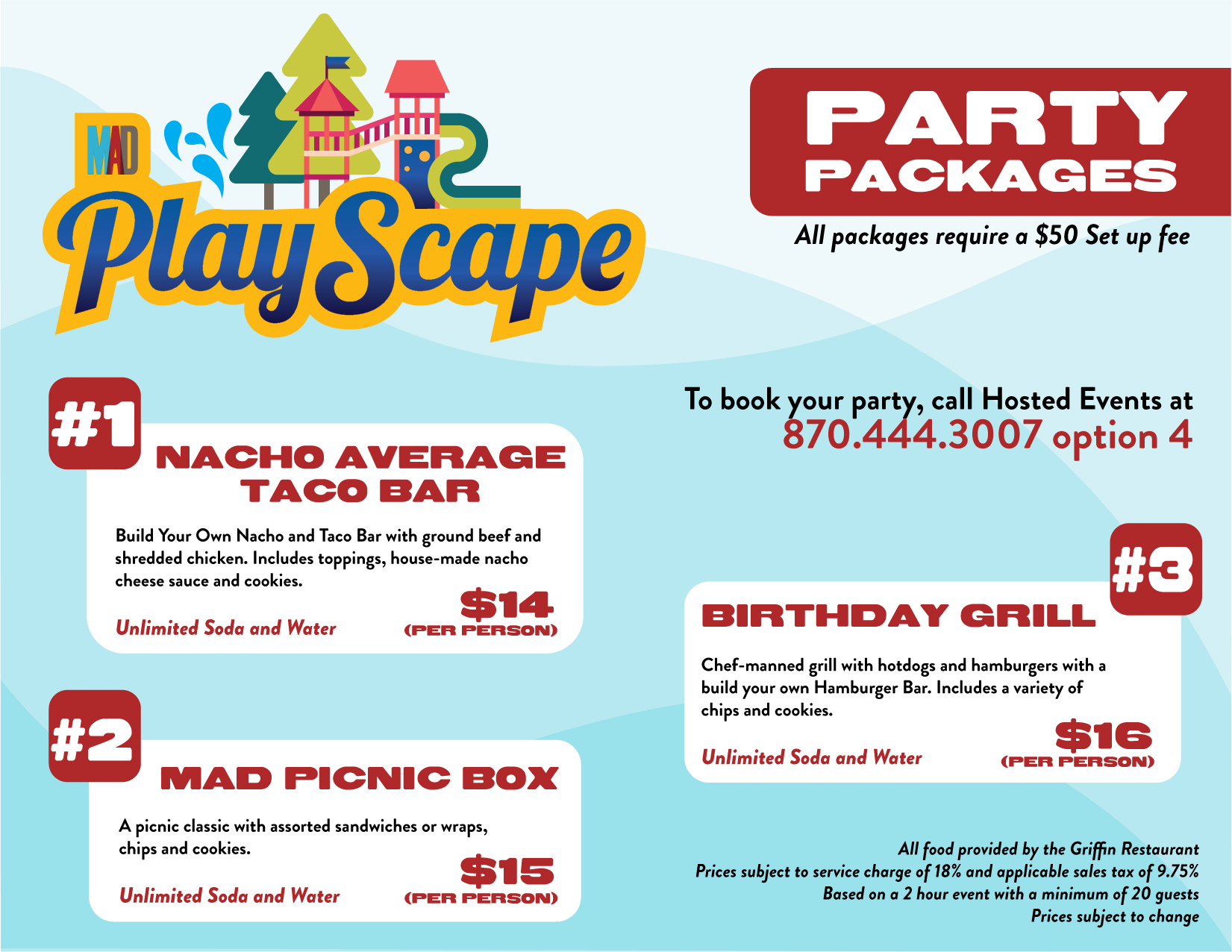 Playscape Party Package